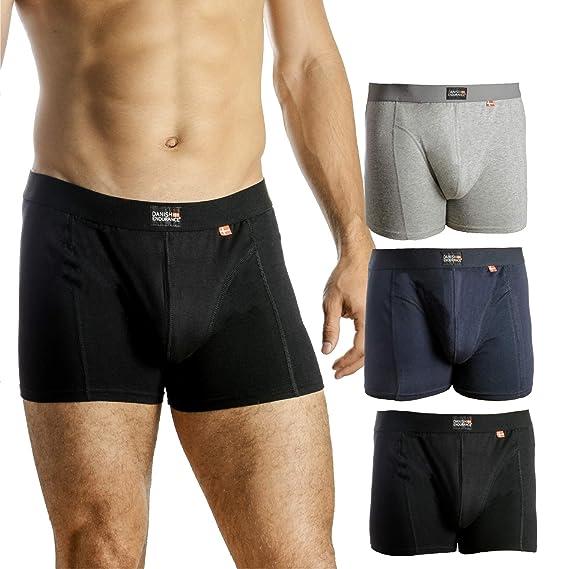 Bóxers para Hombres, pack de 1 o 3, ropa interior de algodón elástico y ultrasuave, corte clásico, calzoncillos ajustados, comodidad superior, ...