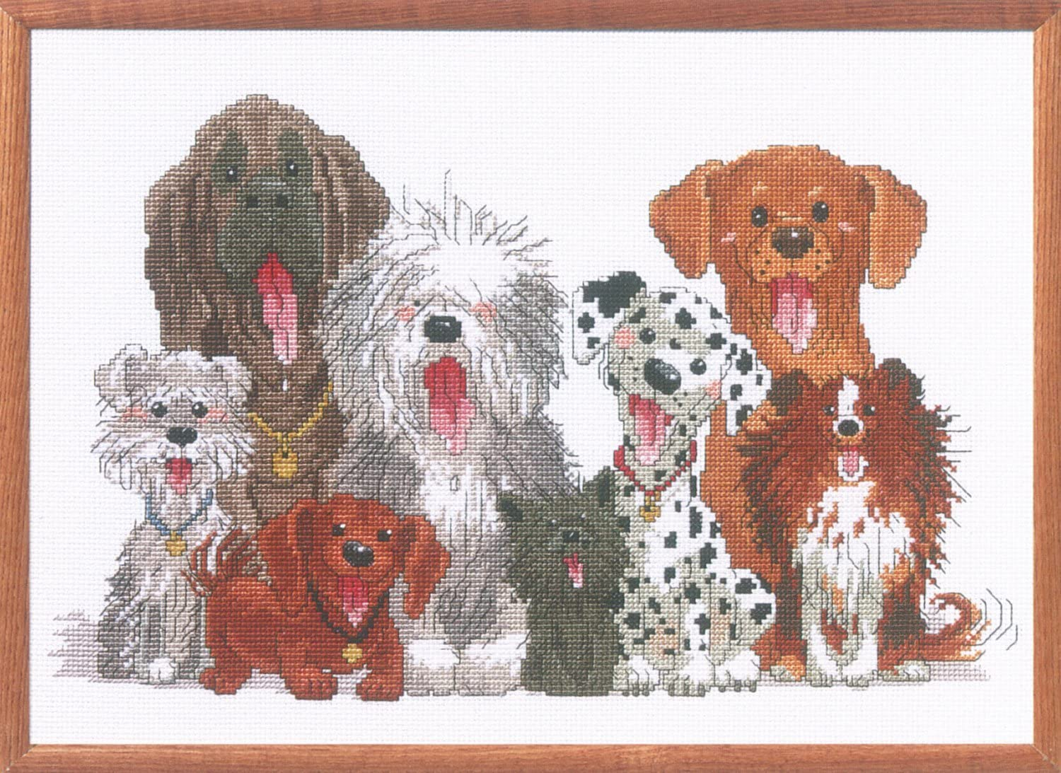 all materials included GREAT DANE puppy dog complete counted cross stitch kit