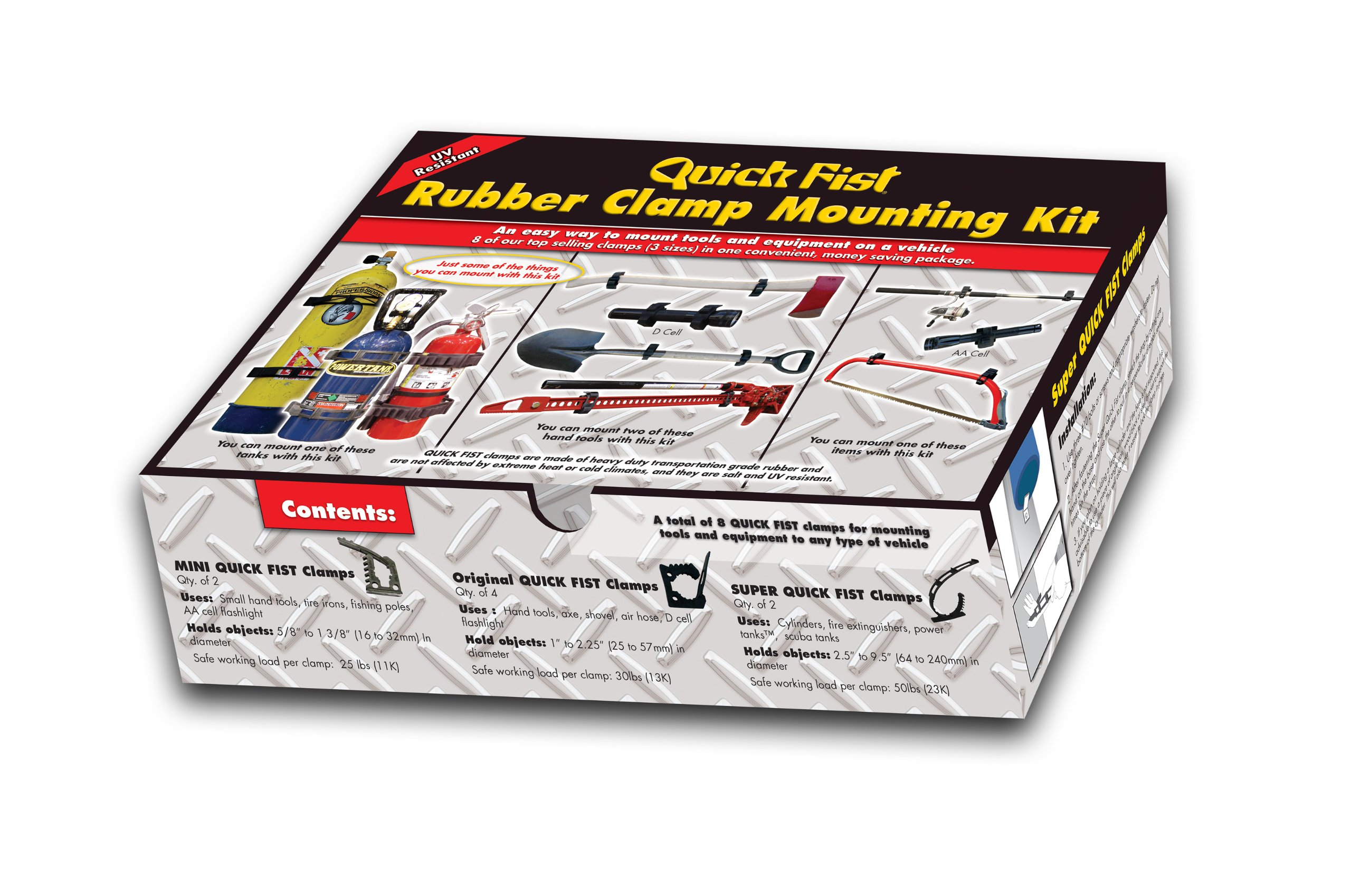 8 piece Quick Fist Clamp Mounting Kit by Quick Fist
