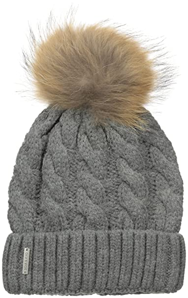 a87e438f527 Soia and Kyo Women s Amalie Cable Knit Beanie with Removable Fur Pom ...