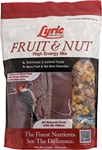 Lyric 2647413 Fruit & Nut High Energy Wild Bird Food, 5 lb