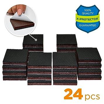 NON SLIP FURNITURE PADS X PROTECTOR U2013 PREMIUM 24 Pcs 1 1/2u201d