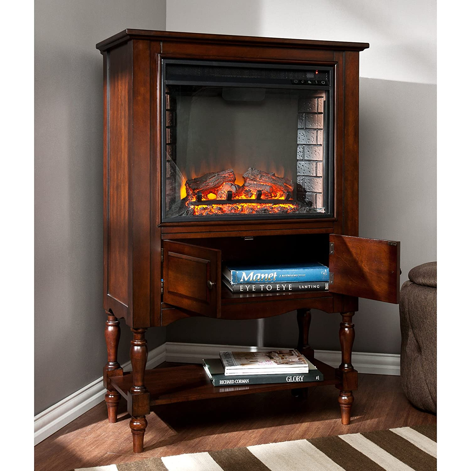 amazon com providence fireplace tower mahogany kitchen u0026 dining
