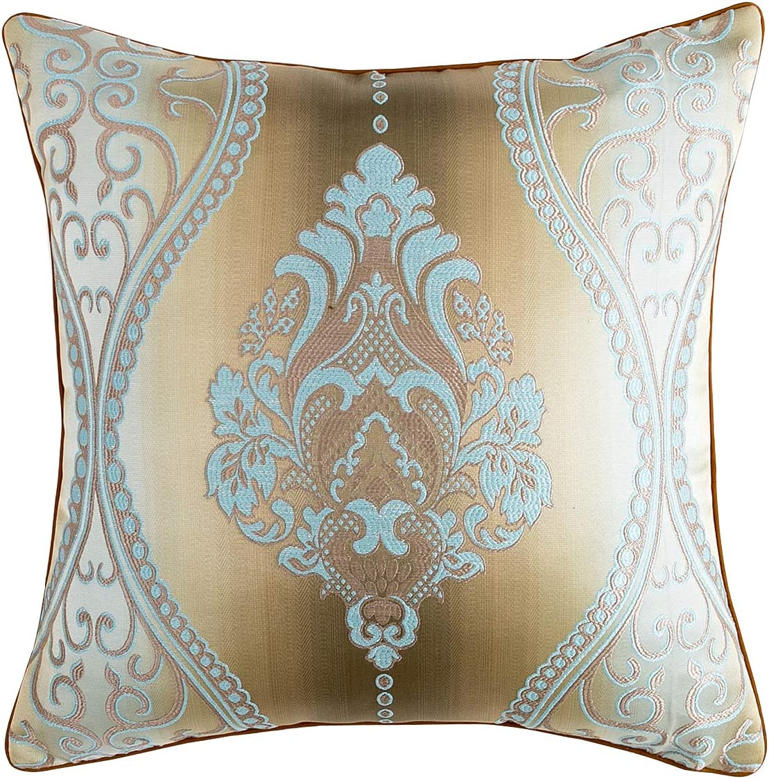 KOI BEAUTY Throw Pillow Covers Decorations Throw Pillow Cover Cushion Covers Pillowcase Home Decor European Style Art Jacquard Square Pillow Covers 20 X 20 inches Set of 2