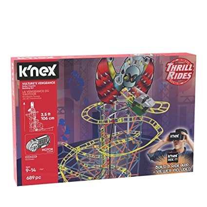 K`NEX Space Invasion Roller Coaster Building Set Construction Build And Play Toy