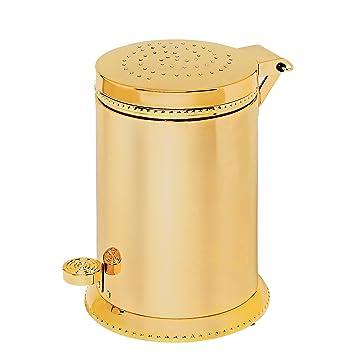 Amazon.com: Luxo Toilet Waste Basket, Polished Chrome With Swarovski  Crystal, Trash Can, Waste Bin, Bathroom Accessories, Made In Spain  (European Brand) ...