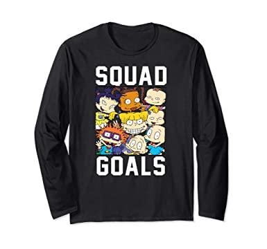 a0244213c116 Amazon.com  Rugrats Goals Long Sleeve T-Shirt  Clothing