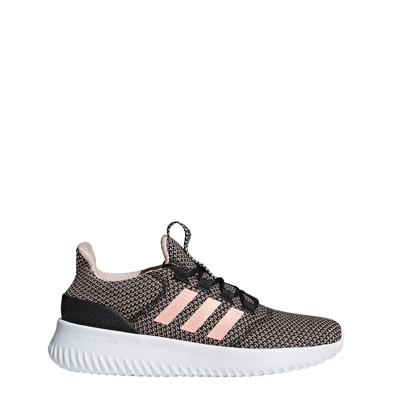 adidas Women's Cloudfoam Ultimate Running Shoe B0785FWY6S 5 M US|Black/Clear Orange/White
