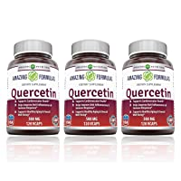 Amazing Formulas - Quercetin 500 Mg 120 Vcaps - Supports Cardiovascular Health - Helps Improve Anti-inflammatory & Immune Response - (3 Pack)
