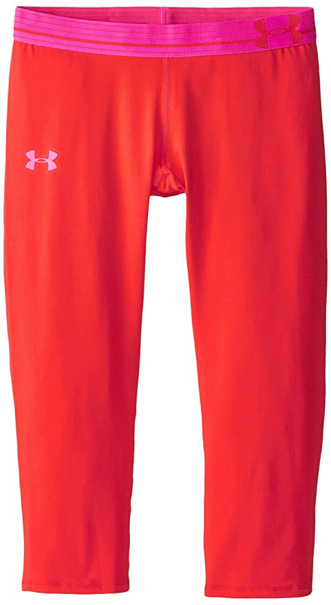 5cacecf61e Amazon.com   Under Armour Girls  HeatGear Armour Pants   Sports ...