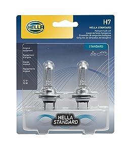 HELLA H7TB Standard-55W Standard Halogen H7 Bulbs, 12 V, 55W 2 Pack
