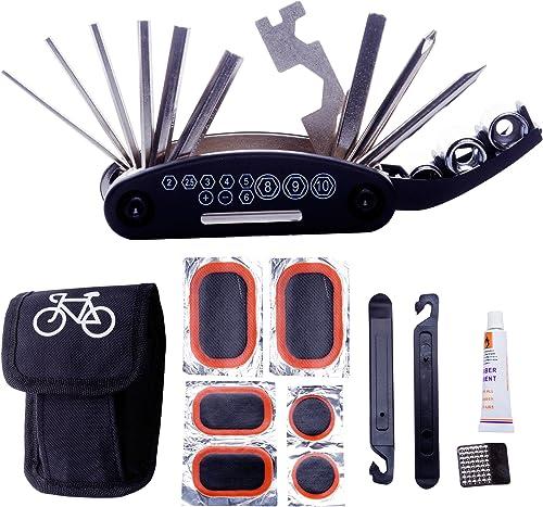 DAWAY Bike Repair Tool Kits - 16 in 1 Multifunction