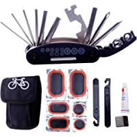DAWAY Bike Repair Tool Kits - 16 in 1 Multifunction Bicycle Mechanic Fix Tools Set Bag with Tire Patch Levers, Practical Xmas Thanksgiving Birthday Gift