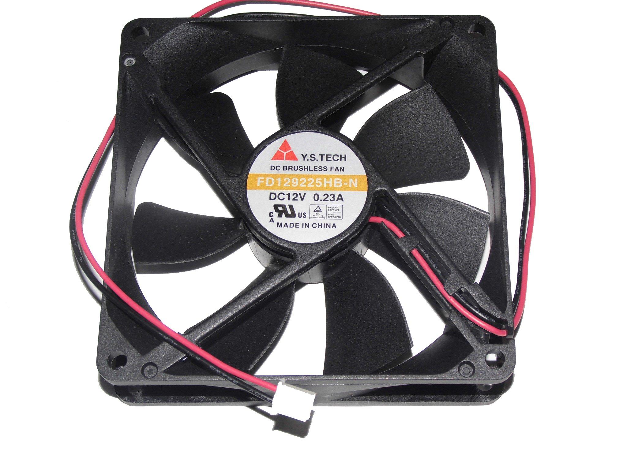 Generic FD129225HB-N 12V 0.23A 2Wire 9cm Y.S.TECH Cooling Fan