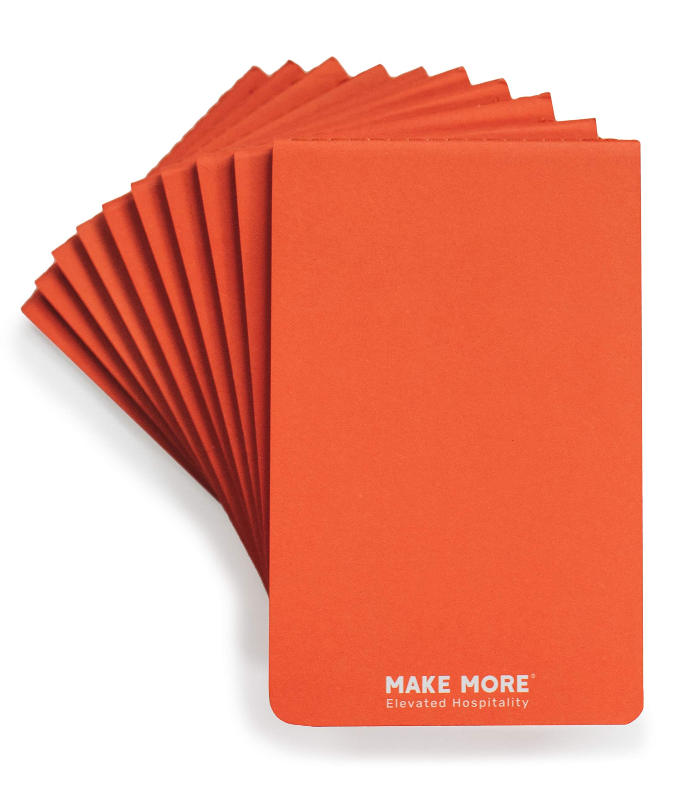 Server Note pads for restaurant Waitress & Waiter, Perfect for optimized and confident guests order taking, 40 lined double sided detachable sheets, Size 5.5 by 3.5, Pack of 10, LAUNCH PRICING