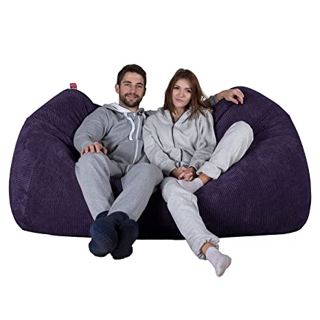 Lounge Pug®, Enorme Sofá/Puff Gigante, Pompón - Morado ...