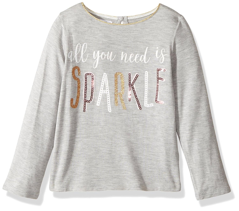 195759c4225d Amazon.com: Mud Pie Baby Girls' Toddler Glitter Long Sleeve T-Shirt:  Clothing