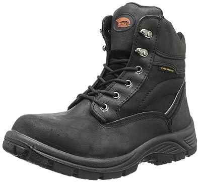 AVENGER Men's 7227 6 in. Steel Safety Toe Work Boots, Black, Medium Width