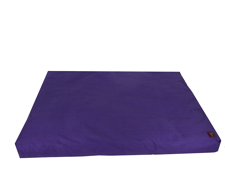 Yoga Meditation Natural Cotton Filled Studio Zabuton by Yogavni(TM) (Purple)
