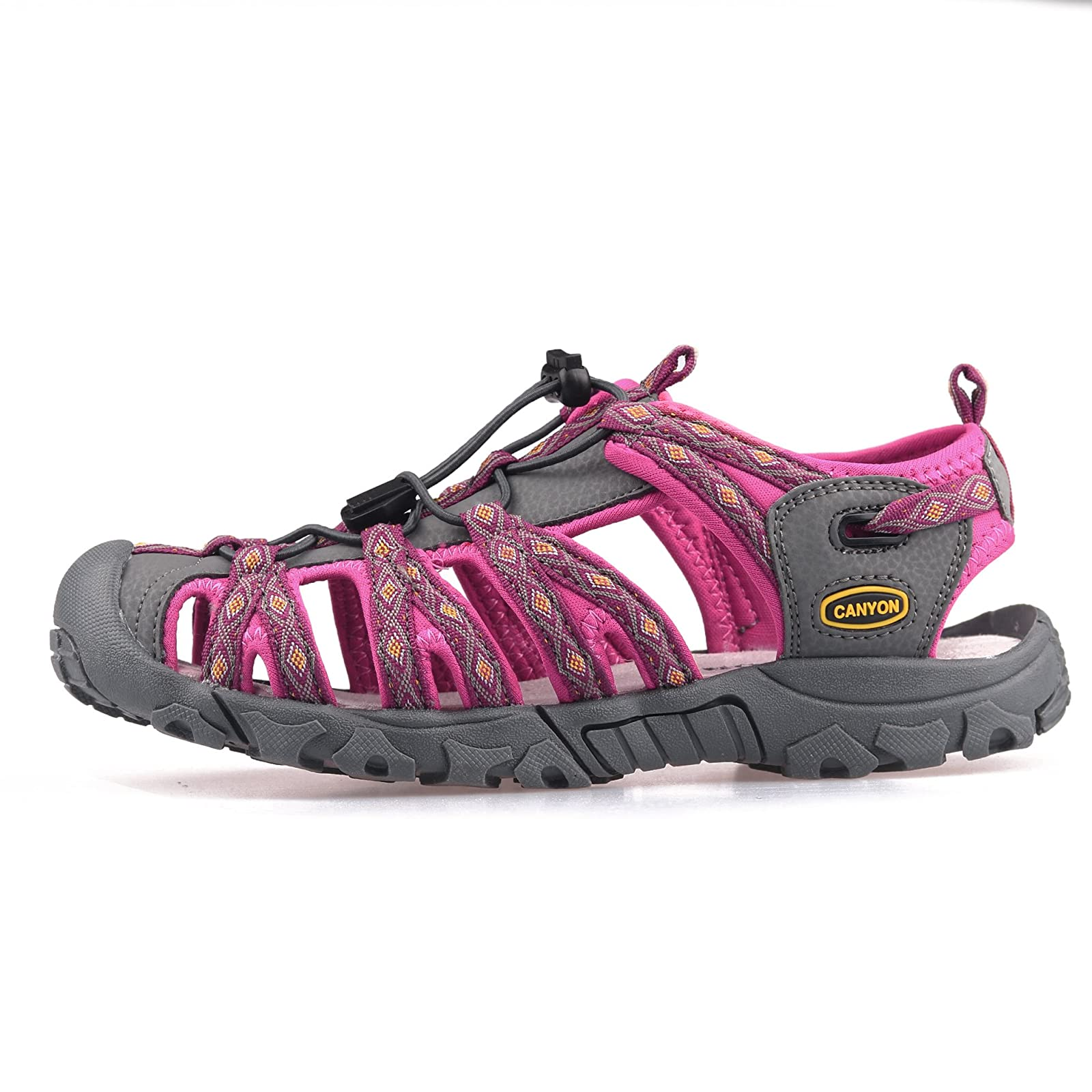 GRITION Women Outdoor Summer Sandals Adjustable Closed - 1