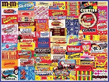 Amazon.com: White Mountain Puzzles Vintage Candy Wrappers - 300 ...