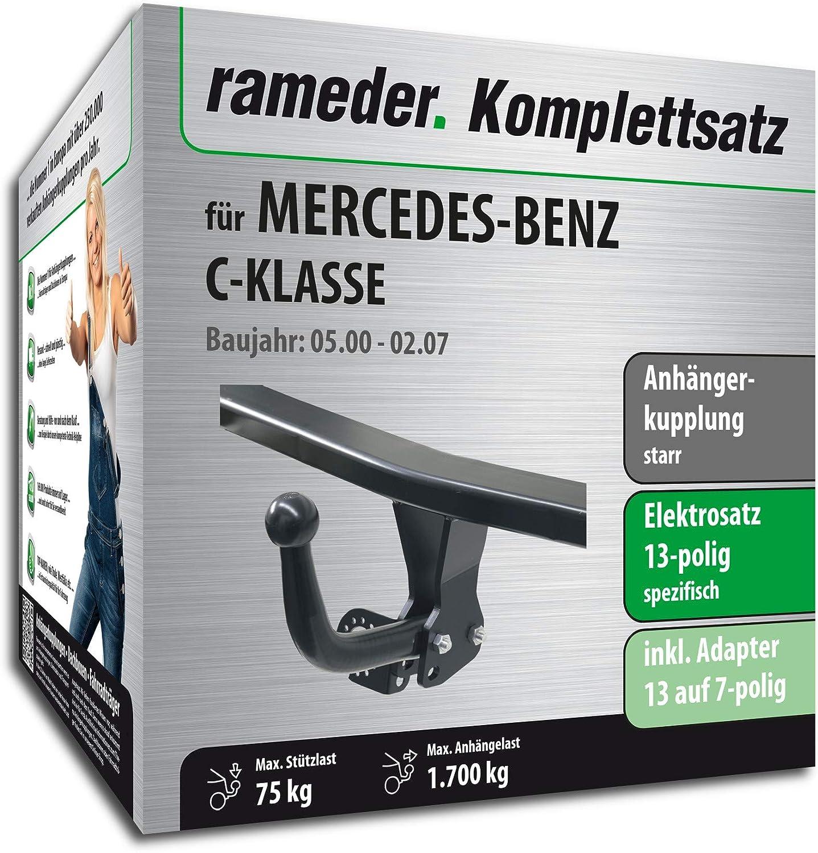 142969-04640-1 Rameder Komplettsatz 13pol Elektrik f/ür Mercedes-Benz C-KLASSE Anh/ängerkupplung starr