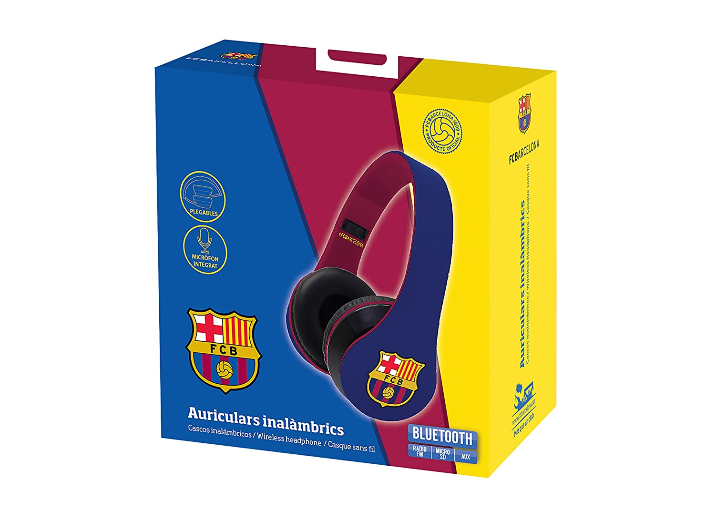 Subsonic FC Barcelona - Auriculares inalámbricos con micrófono, Color Azul: Amazon.es: Electrónica