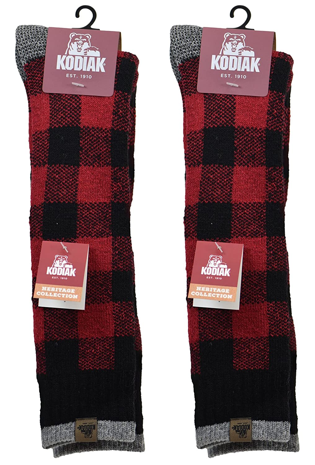 Kodiak Women's 2 Pairs of Soft Thermal Knee High , US Shoe Size 4-10 CAMC_7172_2PK_REDBLK