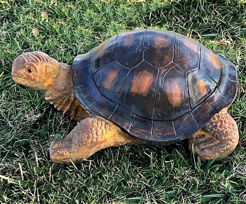 Amazon Com Bellaa 22441 Outdoor Garden Turtle Statues 15 Inch