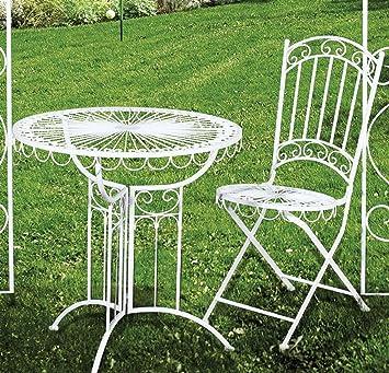Dreams4Home Jardín Metal mesa Juego \'Roma\' - Set, 1 x mesa, 1 x ...