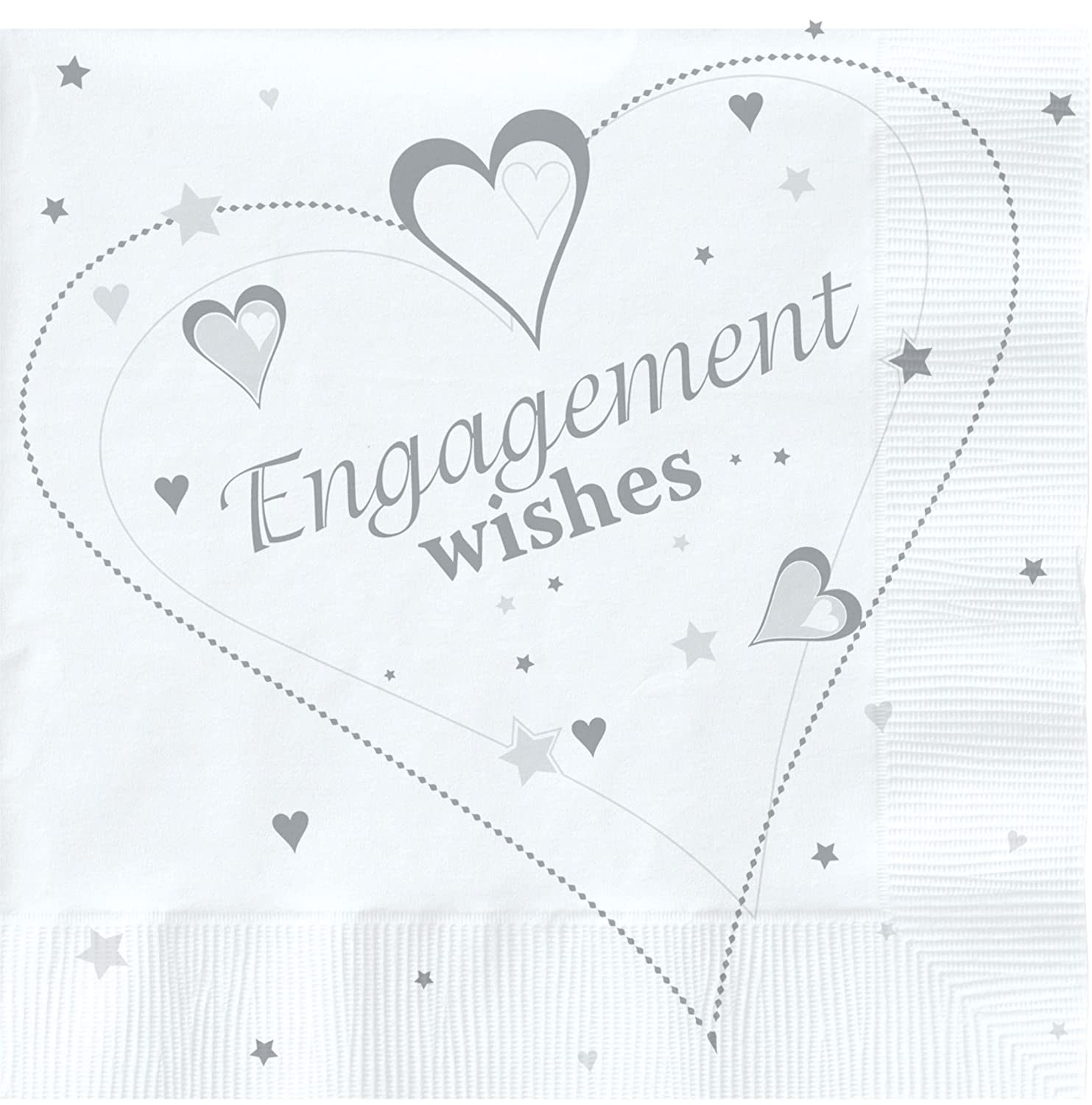 18 x Luxury Engagement Party Napkins Creative converting