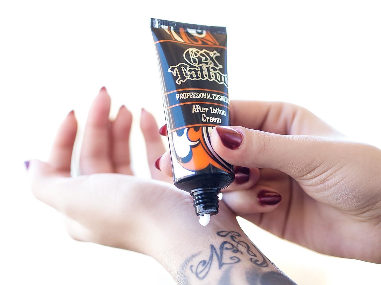 GX Tattoo Juego de 3 Tattoo crèmes – Crema hidratante, protección ...