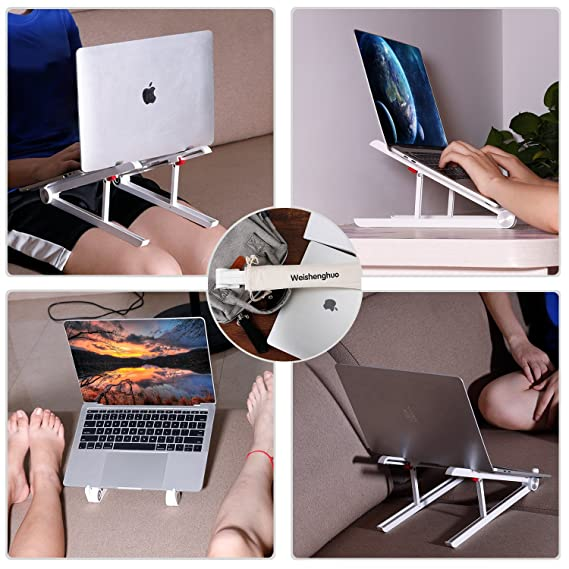 Laptop stand -Soporte ergonómico de aluminio para laptop - Soporte fijo y portátil para computadora portátil - Soporte para PC y MacBook - Viaje de ...