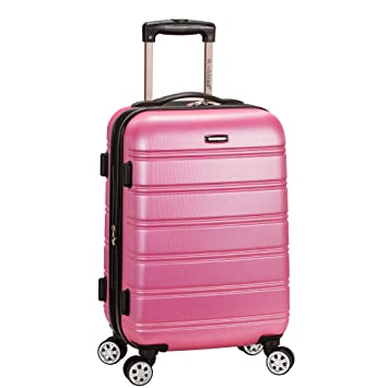 01129411e Amazon.com | Rockland Luggage Melbourne 20 Inch Expandable Abs Carry On  Luggage, Pink, One Size | Carry-Ons
