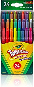 Crayola Fun Effects Mini Twistables Crayons, 24-Count,1 pack