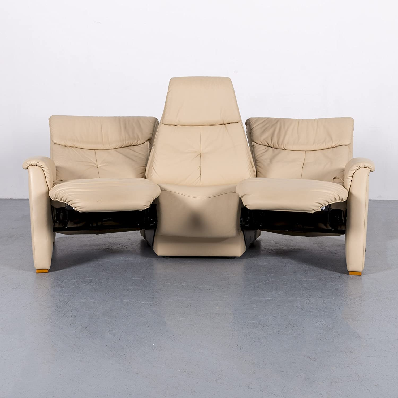 Himolla Trapezoid Leather Cream Beige 3 Seater Sofa Relax Function Cinema Chair 5905 Minimum Wear Sanaa Amazon De Home Kitchen