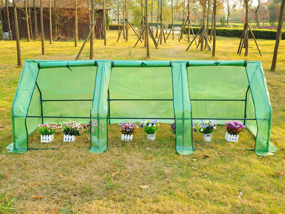 Viva Green 1257 _ 68409 Plug Plants Greenhouse 8ft long green plastic Chassis 2.7 x 0.9 x 0.9 m² 1257_68409