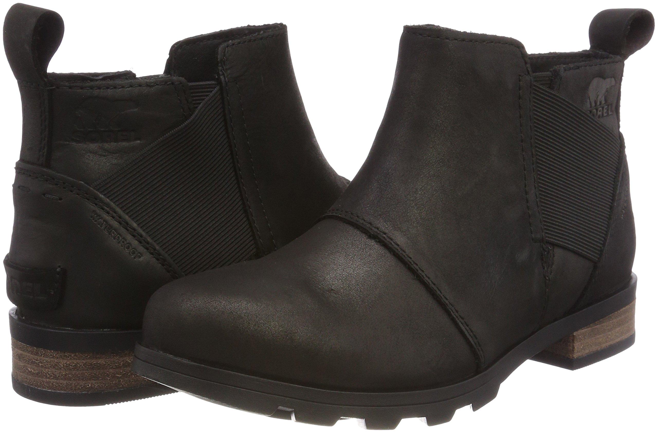 Sorel Womens Emelie Chelsea Black Boot - 8 by SOREL (Image #5)