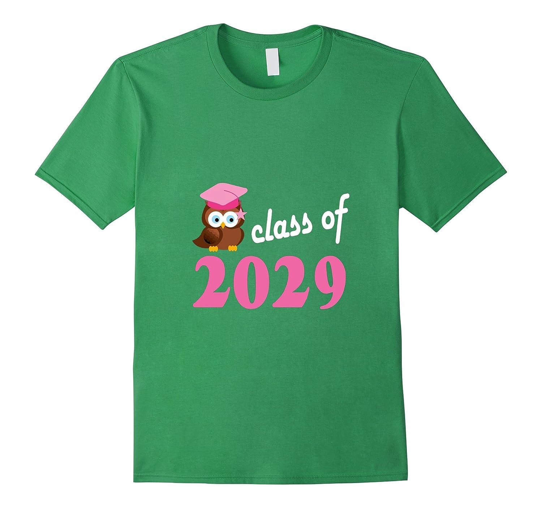 Class Of 2029 T-shirt Kindergarten Back To School Owl Tee-RT