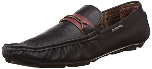 345f2b0193e Image Unavailable. Image not available for. Colour  Provogue Men s Black  Leather Loafers ...