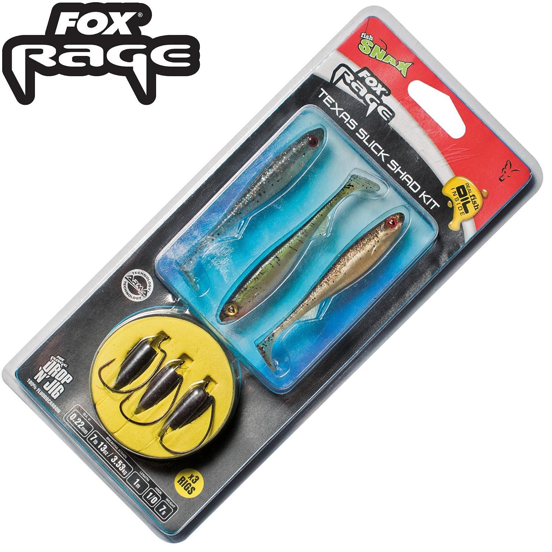 Fox Rage Texas Slick Shad Kit 1 m 0,22 mm 3,53 kg Talla 1/0 – 3 ...