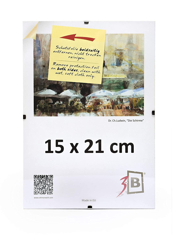 Amazon.de: 3-B Set 10 Stk. - Rahmenlose Bildhalter CLIPRAHMEN 15x21 ...