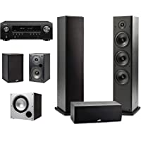 Polk Audio 5.1 Channel Home Theater System with Powered Subwoofer & Denon AVR-S650H…