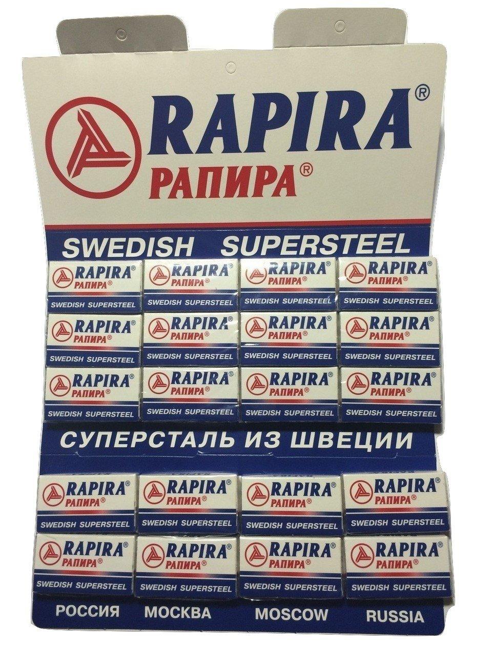 100 Lamette da barba Rapira Swedish Super Steel Mostochlegmash