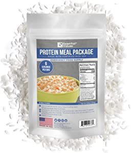 Essential Values 90 Servings Emergency Food Supply (90-Day Supply / 1 Meal per Day) – Fortified & Enriched Rice/Soy Protein Meal Package + 5 Year Shelf Life