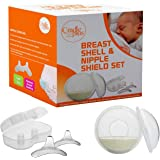 Nippleshield and Breast Shell for Breast Feeding | Nipple Shield in Storage case | Breastfeeding Essentials | Milk Savers or