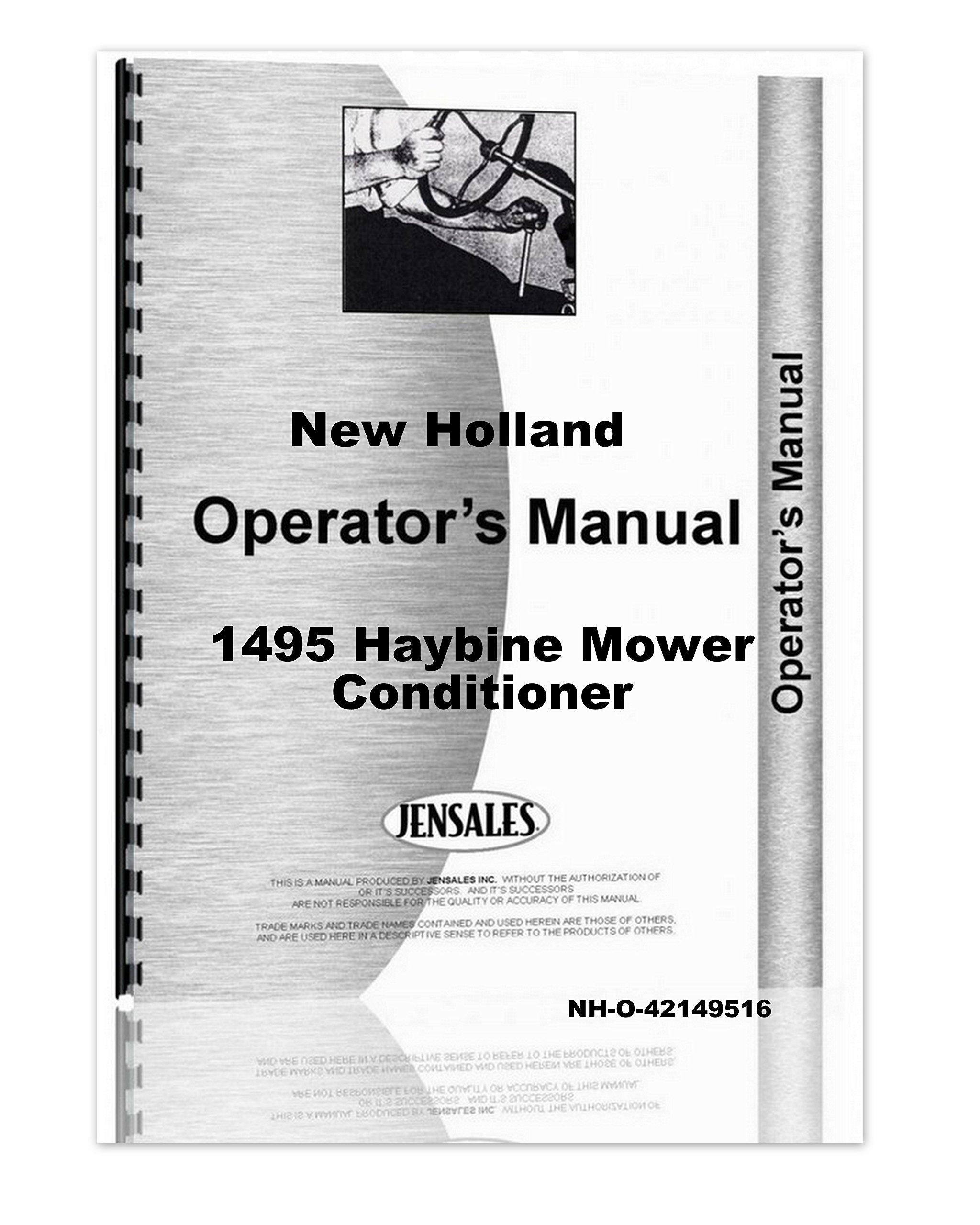 new holland 1495 haybine mower conditioner owner operators manual rh amazon com