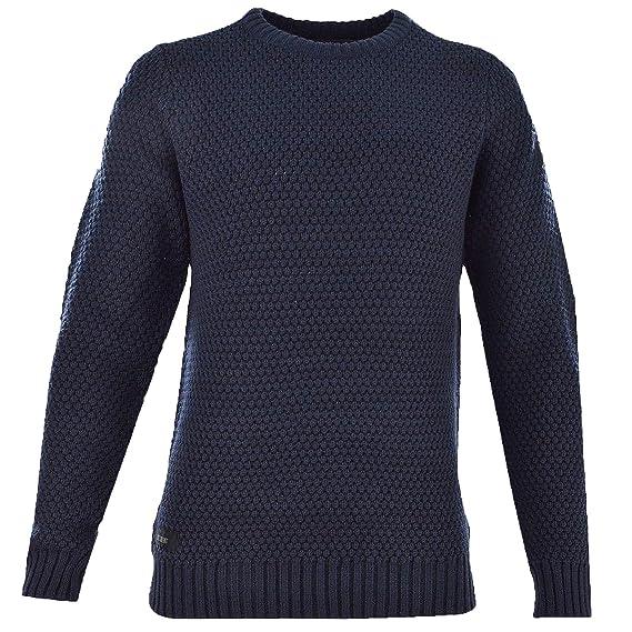Pullover Herren Dissident Neu Top Rundhals Gerippt Langärmlig Warm Winter  Pullover - Dunkelblau, Größe S (48): Amazon.de: Bekleidung