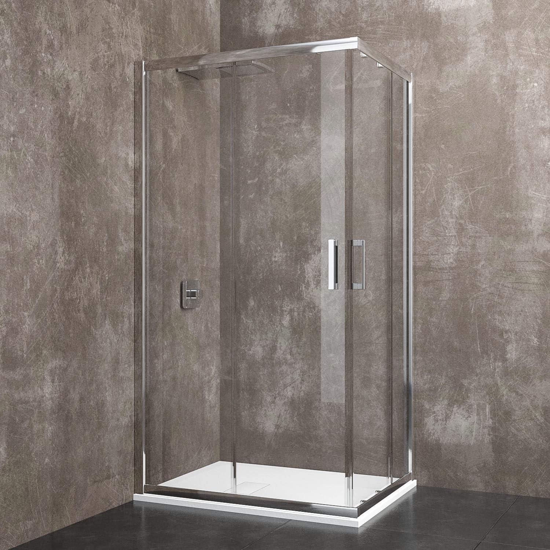 Cabina de ducha rectangular Berna con puertas correderas de ...