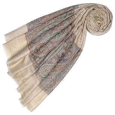 a13c81e8956e21 Lorenzo Cana Luxus Pashmina Damen Kaschmirschal 100% Kaschmir jacquard  gewebt Paisley Muster Schal Schaltuch Kaschmirtuch